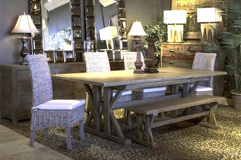 Superb Four Hands Reclaimed Wood Tuscan Dining Table