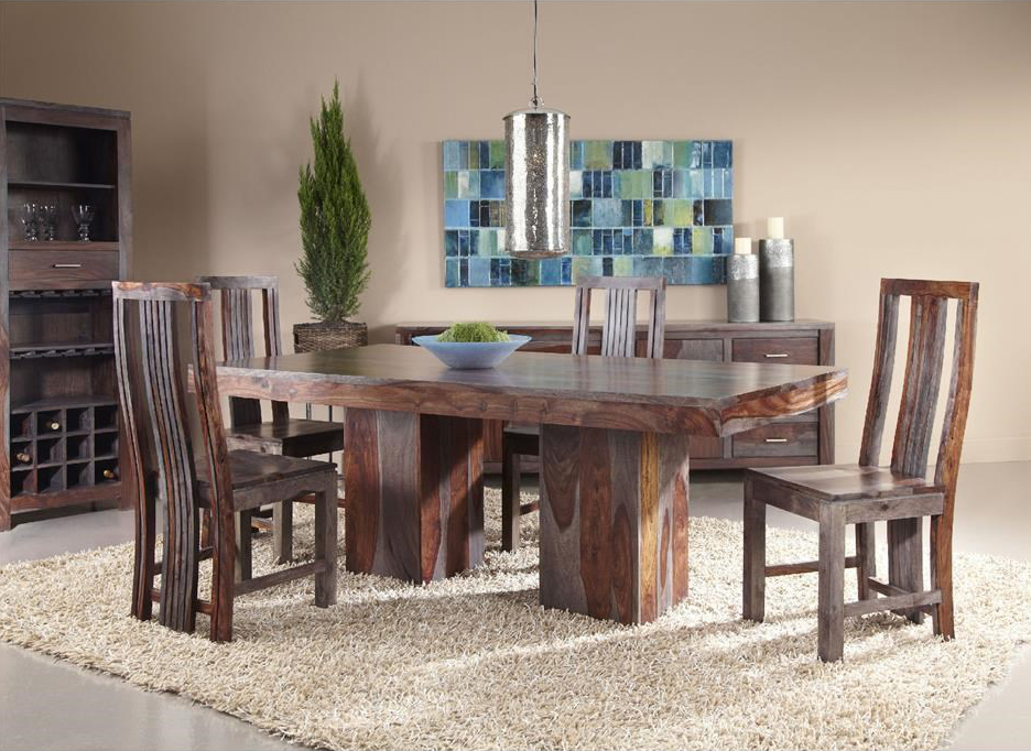 dining table set jadu accents - Rustic Dining Set