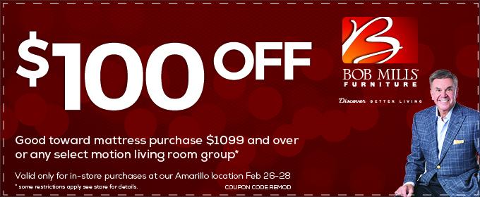 Bob Mills Furniture Amarillo $100 Redesign Event
